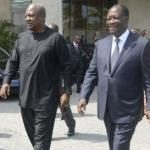 IVORY COST - GHANA / MARITIME BOUNDARY : OUATTARA AND DRAMANI FOR NEGOTIATED SOLUTION